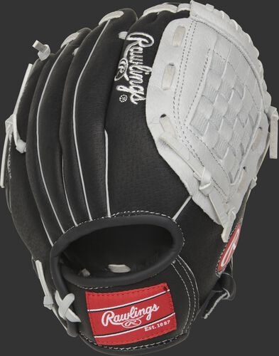 SC100BGB 10-inch Sure Catch youth glove with a black back and Velcro strap back