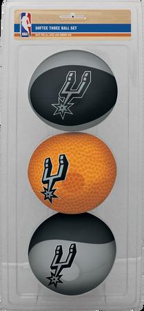 NBA San Antonio Spurs Three-Point Softee Basketball Set