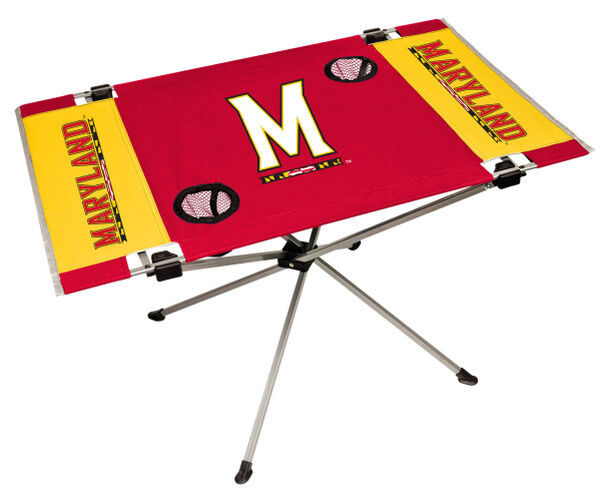Rawlings Red and Gold NCAA Maryland Terrapins Endzone Table With Two Cup Holders, Team Logo, and Team Name SKU #04053080111