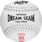 A white C12WLAH USA NFHS official Dream Seam softball with white stitching image number null