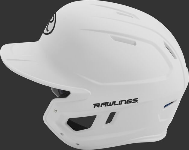 MACH junior Rawlings batting helmet with a one-tone matte white shell