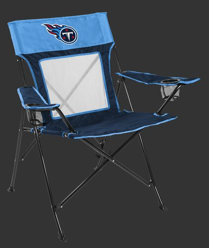 Front of Rawlings Blue and Navy NFL Tennessee Titans Game Changer Chair With Team Logo SKU #00651069111