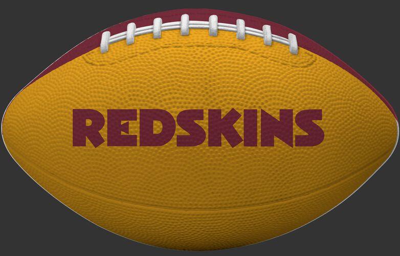 Yellow side of a Washington Redskins Gridiron tailgate football