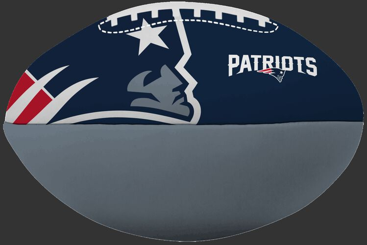 NFL New England Patriots Big Boy softee football printed in team colors with team logos SKU #03211076111