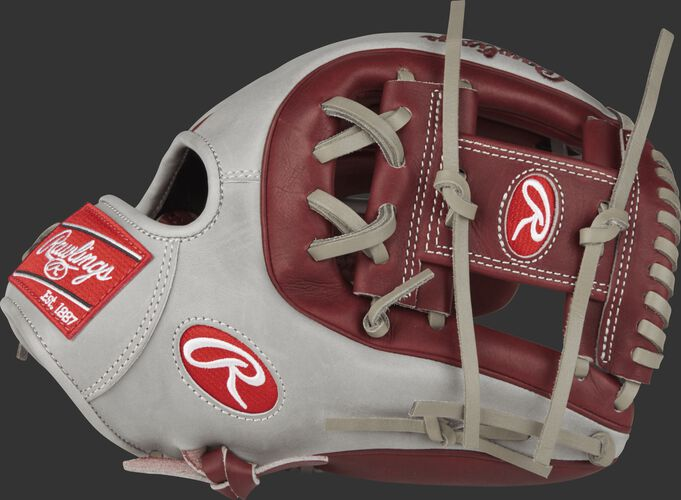 Thumb view of a PRO315-2SHG Heart of the Hide 11.75-inch infield glove with a sherry I web