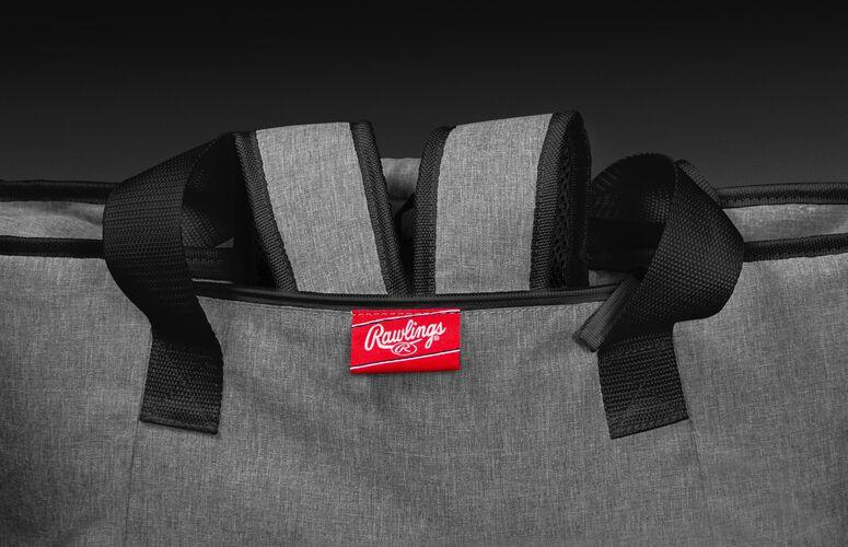 Hideaway backpack straps on a Las Vegas Raiders 30 can cooler - SKU: 10311072111