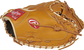 Thumb view of a rich tan PROSCM43RT 34-inch Rawlings Pro Preferred catcher's mitt with a rich tan one-piece solid web