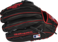 Black back of a Heart of the Hide Isiah Kiner-Falefa infield glove with the MLB logo on the pinky - SKU: RSGPRO205-IKF9 image number null
