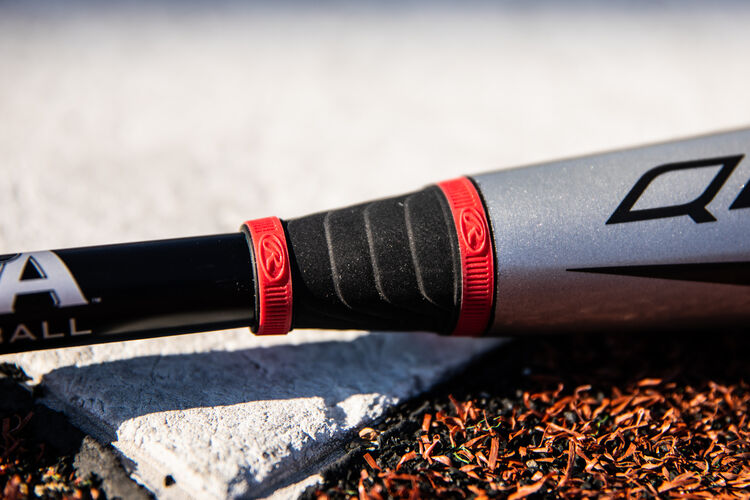 The F2 Collar on a -8 USA Quatro Pro baseball bat on home plate - SKU: US1Q8