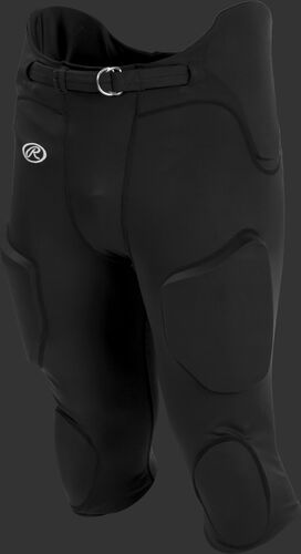 Front of Rawlings Black Adult Lightweight Football Pants - SKU #FPL