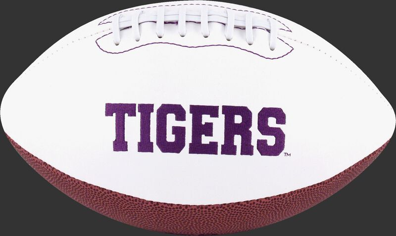 White NCAA Clemson Tigers Signature Series Football With Team Name SKU #05733010121