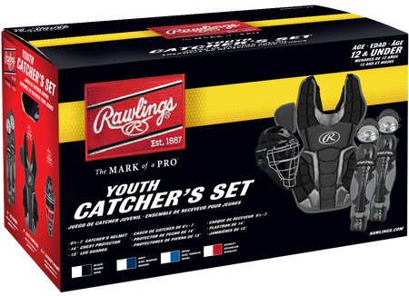 Box of a youth RCSNY Renegade youth Renegade 2.0 catcher's gear set