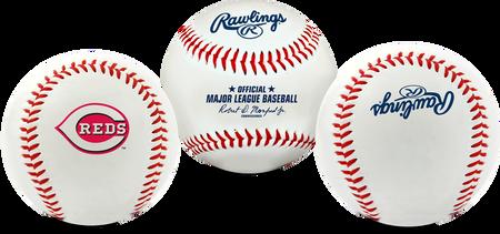 3 views of a MLB Cincinnati Reds baseball