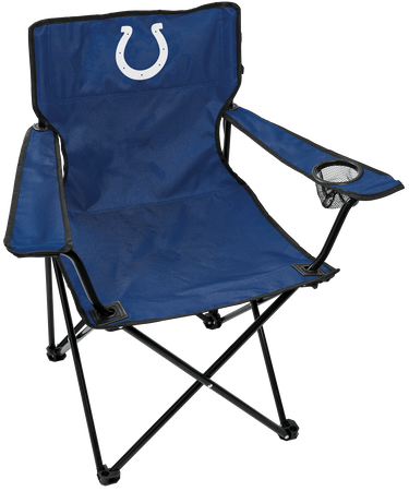 Front of Rawlings Blue NFL Indianapolis Colts Gameday Elite Chair With Team Logo SKU #00551070111