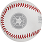 The Houston Astros logo stamped on the ALCS19DL Dueling 2019 ALCS baseball image number null