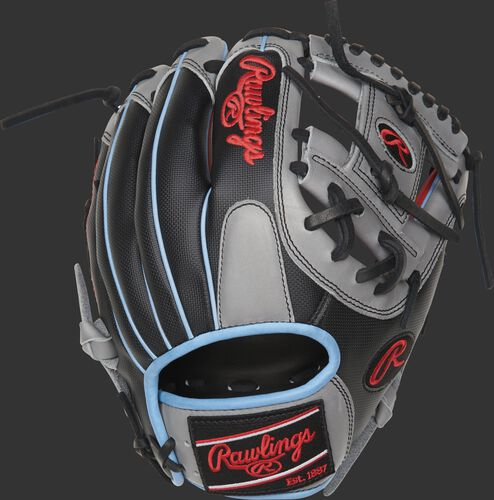 PRO204-2SGSS 11.5-inch Heart of the Hide ColorSync I-Web glove with a black Speed Shell back