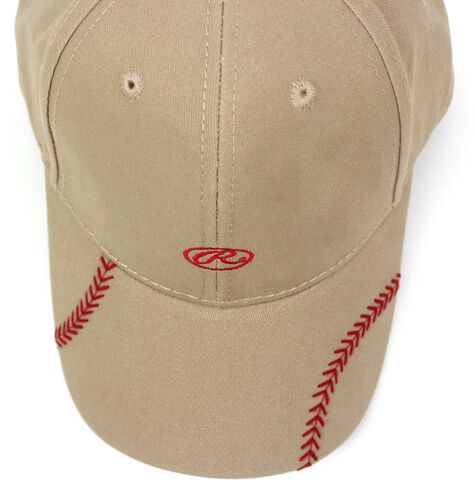 Top of Rawlings Women's Change Up Khaki Baseball Stitch Oval-R Logo Hat - SKU #RC40000-252