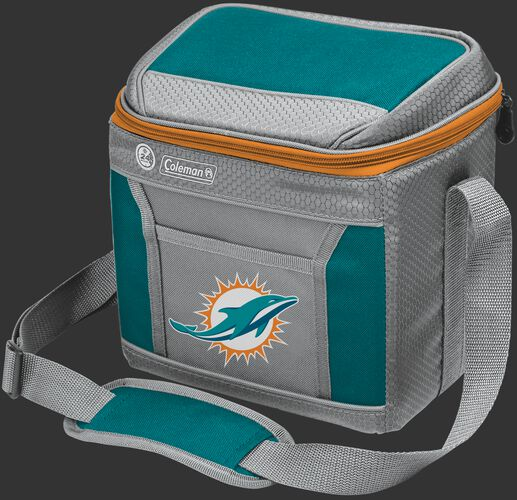 Rawlings Miami Dolphins 9 Can Cooler In Team Colors With Team Logo On Front SKU #03281074111