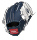 Back of a navy, white & red New York Yankees 10-inch I-web glove with a red Rawlings patch - SKU: 22000030111 image number null