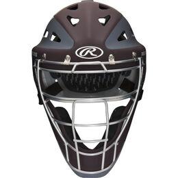 Velo Youth Catchers Helmet Maroon/Gray