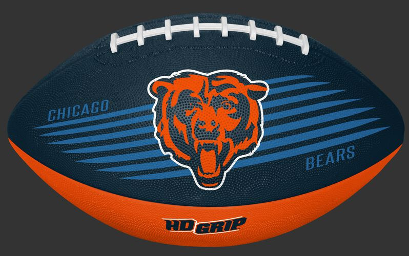 Navy and Orange NFL Chicago Bears Downfield Youth Football With Team Logo SKU #07731062121