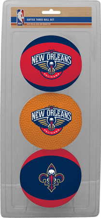 NBA New Orleans Pelicans Three-Point Softee Basketball Set