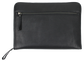 Back of a black Rawlings rugged portfolio with a zippered compartment - SKU: V614-001 image number null