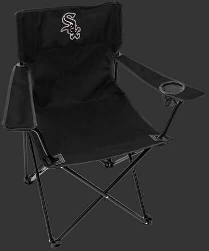 Front of Rawlings Black MLB Chicago White Sox Elite Chair With Team Logo SKU #06110029111