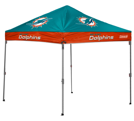 NFL Miami Dolphins 10x10 shelter with team colors and logos