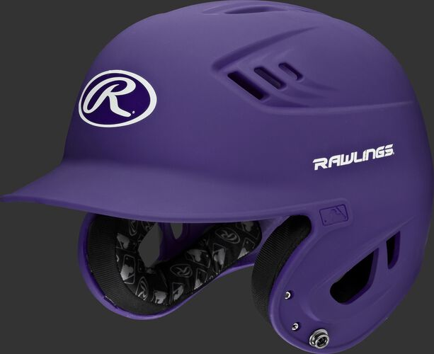 A purple R16MS Velo senior batting helmet with Cool-Flo vents