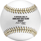The Offical Ball logo stamped in black on the RGGBB Rawlings Gold Glove baseball image number null