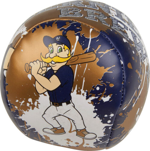 Rawlings Milwaukee Brewers Quick Toss 4'' Softee Baseball With Team Mascot On Front In Team Colors SKU #01320006112