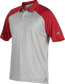 A gray Rawlings colorsync polo with scarlet sleeves - SKU: CSP-BG/S image number null