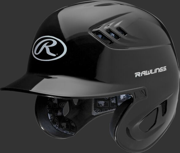 Coolflo High School/College Batting Helmet Black