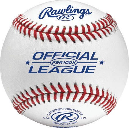 FSR100X Flat seam blemished baseball with Official League logo