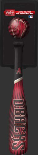 Rawlings Arizona Diamondbacks Softee Mini Bat and Ball Set in Team Colors With Team Name and Logo On Front SKU #01160010114