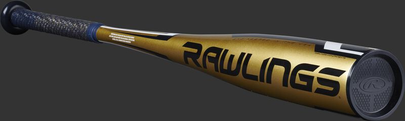 USZT12 Rawlings -12 USA youth bat with a gold barrel and navy accents