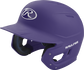 Left angle view of a Rawlings MACH helmet with a one-tone matte purple shell image number null