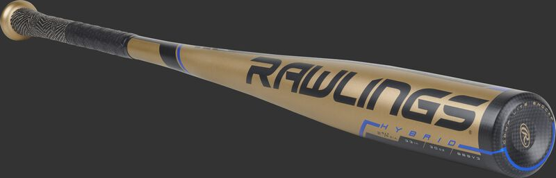 3/4 angle view of a BB9V3 Rawlings Velo high school/college one-piece hybrid baseball bat