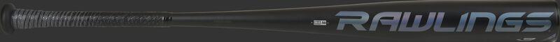 A black Rawlings 5150 BBCOR bat with a blue Rawlings logo - SKU: BB153