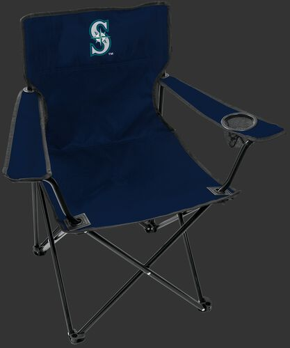 Front of Rawlings Navy Blue MLB Seattle Mariners Gameday Elite Chair With Team Logo SKU #06110015111