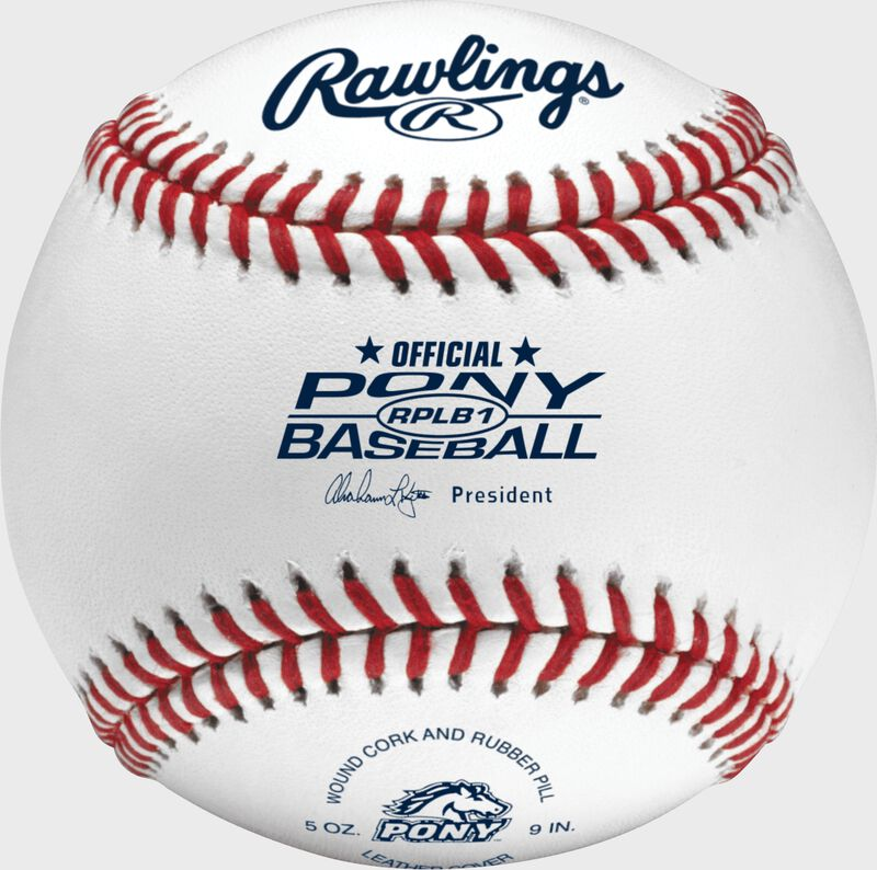 RPLB1 Pony league competition grade baseball with raised seams