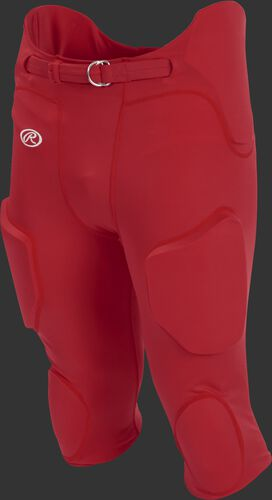 Front of Rawlings Scarlet Adult Lightweight Football Pants - SKU #FPL
