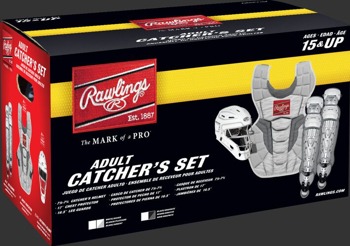 CSV2A Adult Rawlings Velo 2.0 Catcher's Gear set box