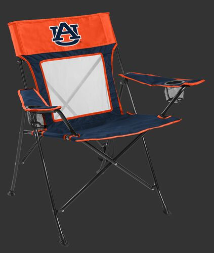 Front of Rawlings Blue and Orange NCAA Auburn Tigers Game Changer Chair With Team Logo SKU #00643003111