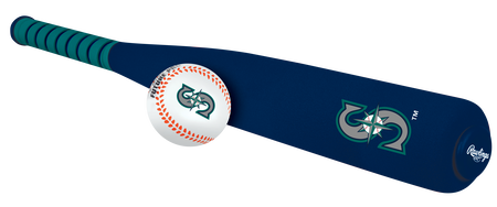 MLB Seattle Mariners Foam Bat and Ball Set