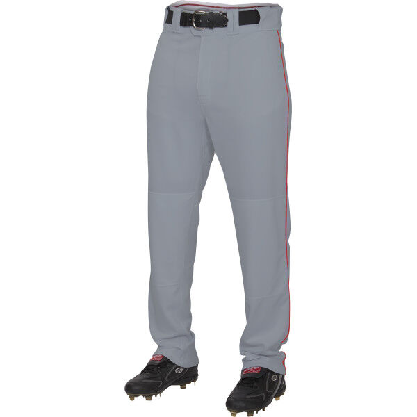 Youth Semi-Relaxed Piped Pant Blue Gray/Scarlet
