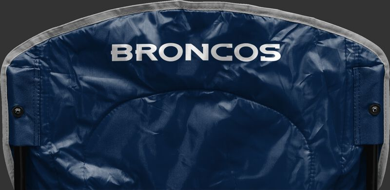 Back of Rawlings Navy Blue NFL Denver Broncos Chair With Team Name SKU #02771066111