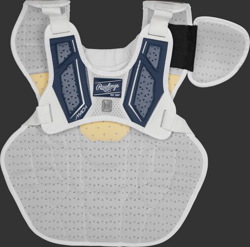 Back harness of a navy CMPCN Mach chest protector