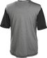 Back of a gray Rawlings Hurler short sleeve shirt with black sleeves - SKU: HSSP-GR/B image number null